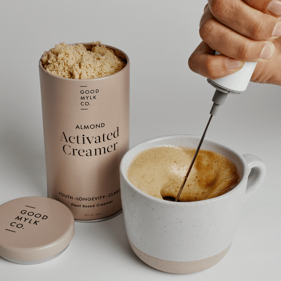 Goodmylk almond activated creamer