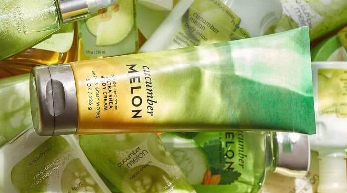 Instagram @bathandbodyworks cucumber melon products