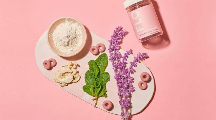 Instagram @flovitamins jar of gummies and ingredients