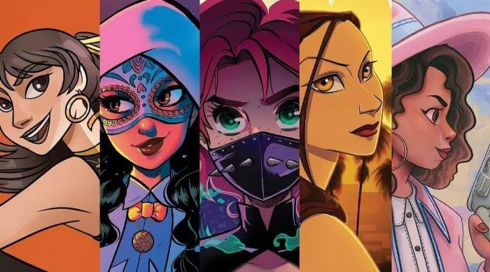 Instagram @latinasuperheroes a la brava five heroes