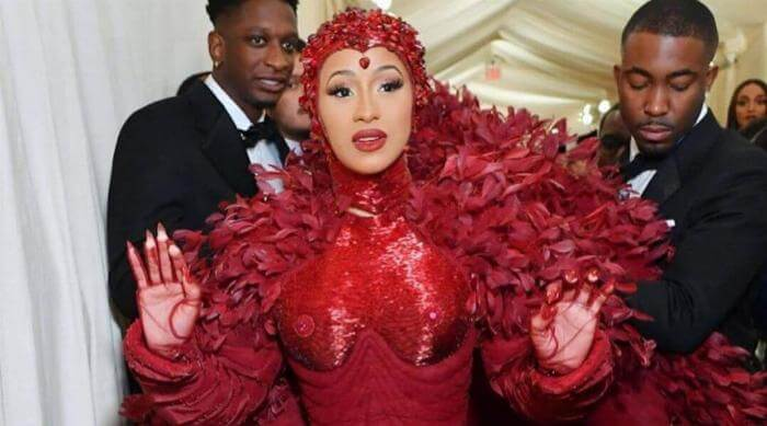 Instagram @nailson7th Cardi B Met Gala nails featured