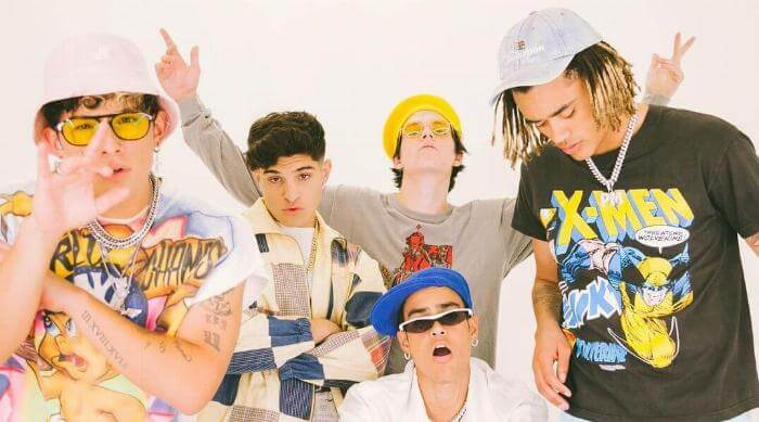 Instagram @prettymuch band in colorful shirts