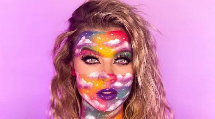 Instagram @sydney.m0rgan cloud makeup