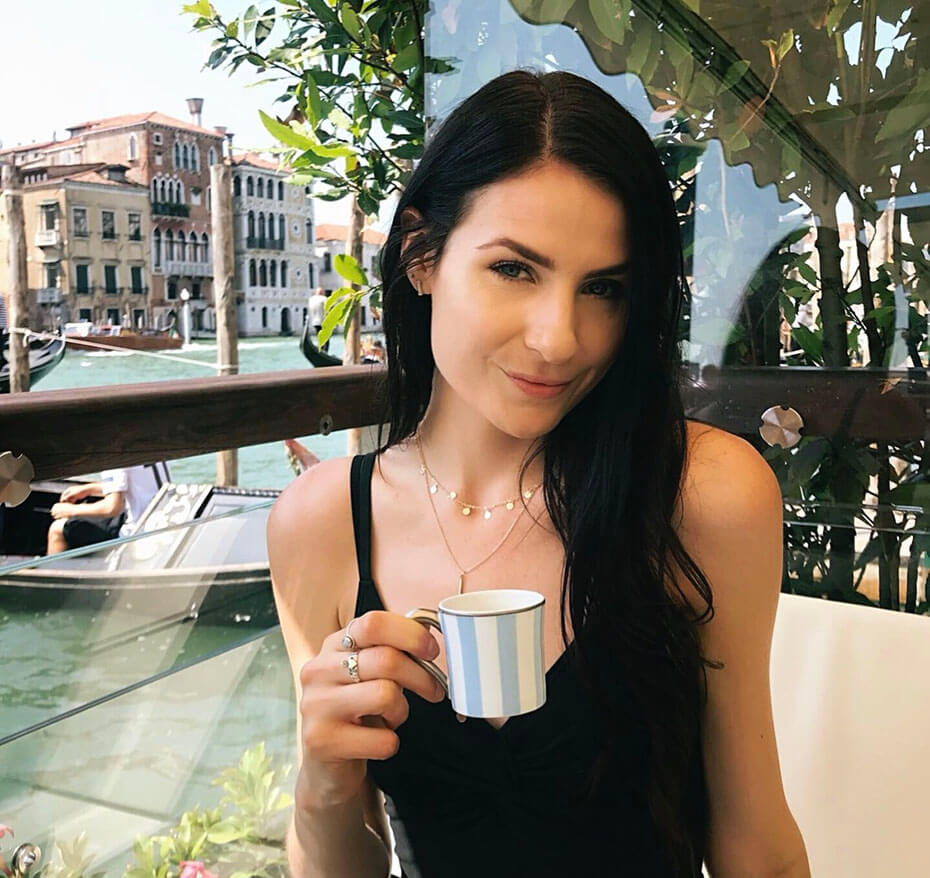 Janelle Neary with coffee cup