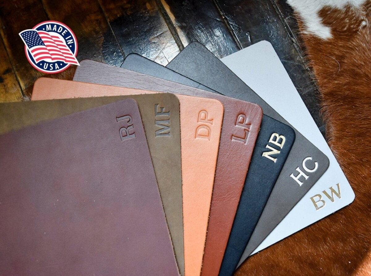 leather mousepad etsy