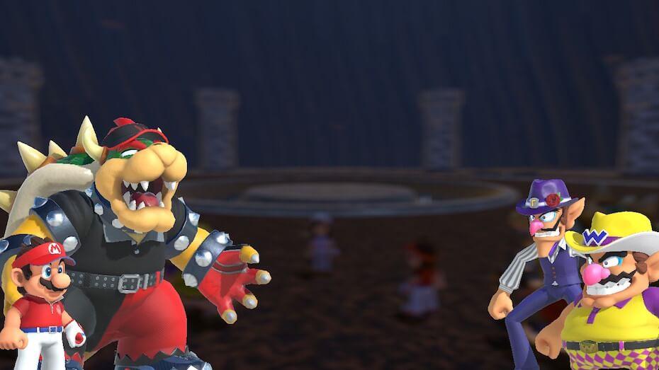 Mario Golf: Super Rush -mario, bowser, waluigi and wario