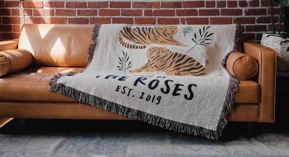 Relatable Basic the roses tiger blanket