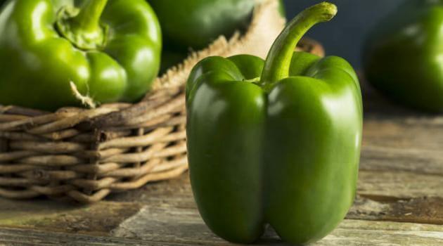 Shutterstock: green bell pepper