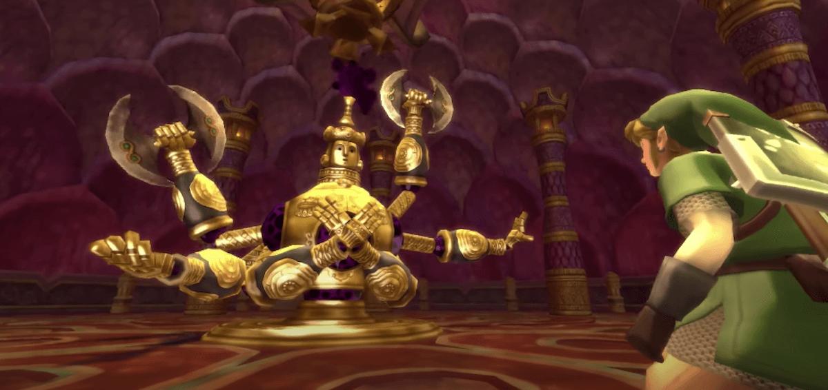 The Legend of Zelda: Skyward Sword Koloktos boss fight