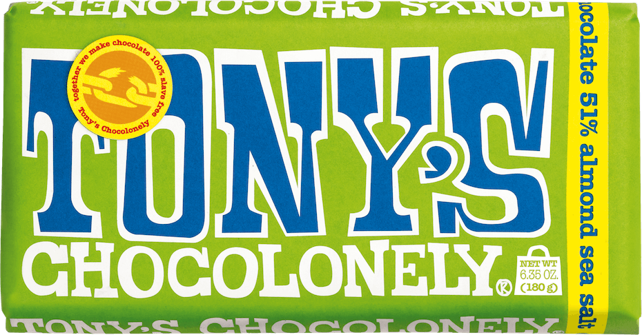 Tonys Chocolonely Almond Sea Salt chocolate