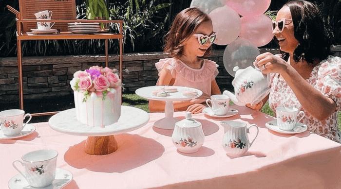 tuxton home vintage bloom tea set