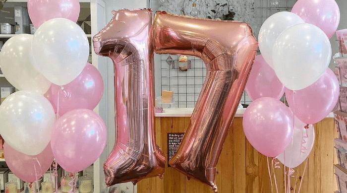 17th birthday balloons