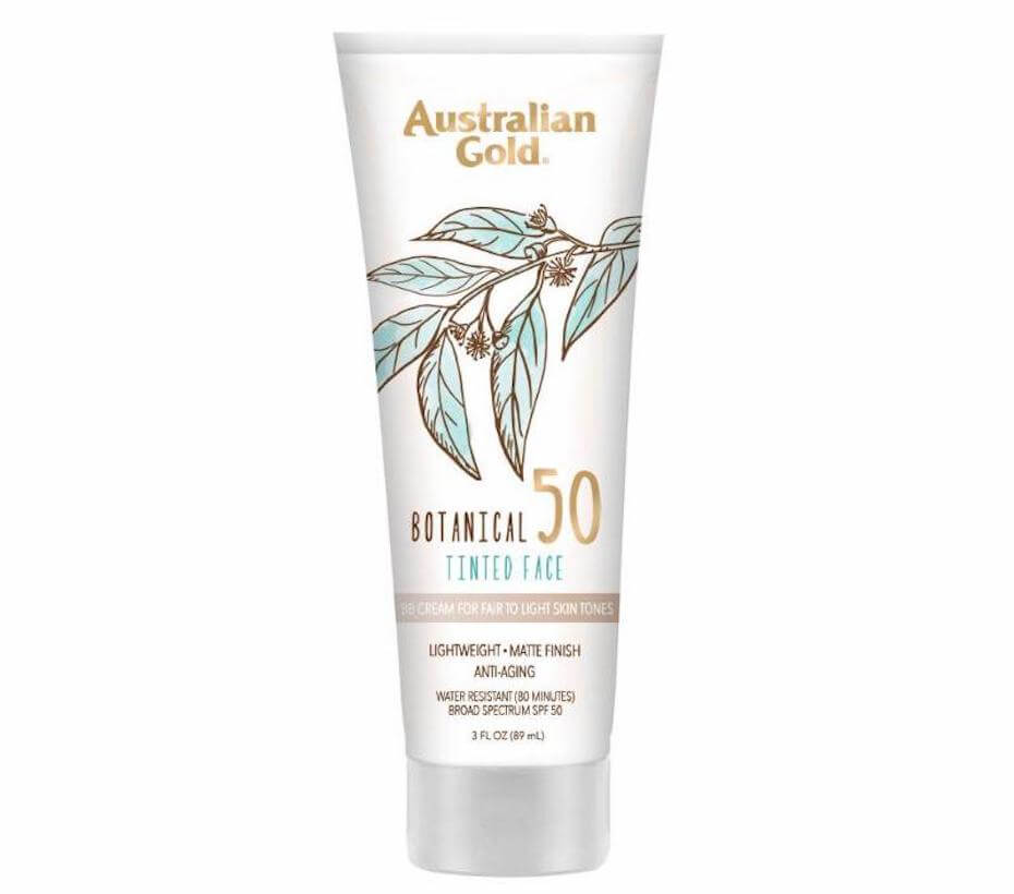 Australian Gold tinted sunscreen
