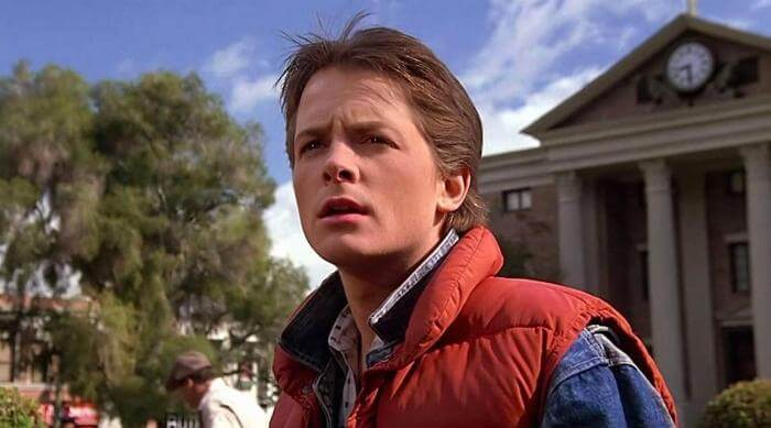 Back to the Future: Marty McFly gazing