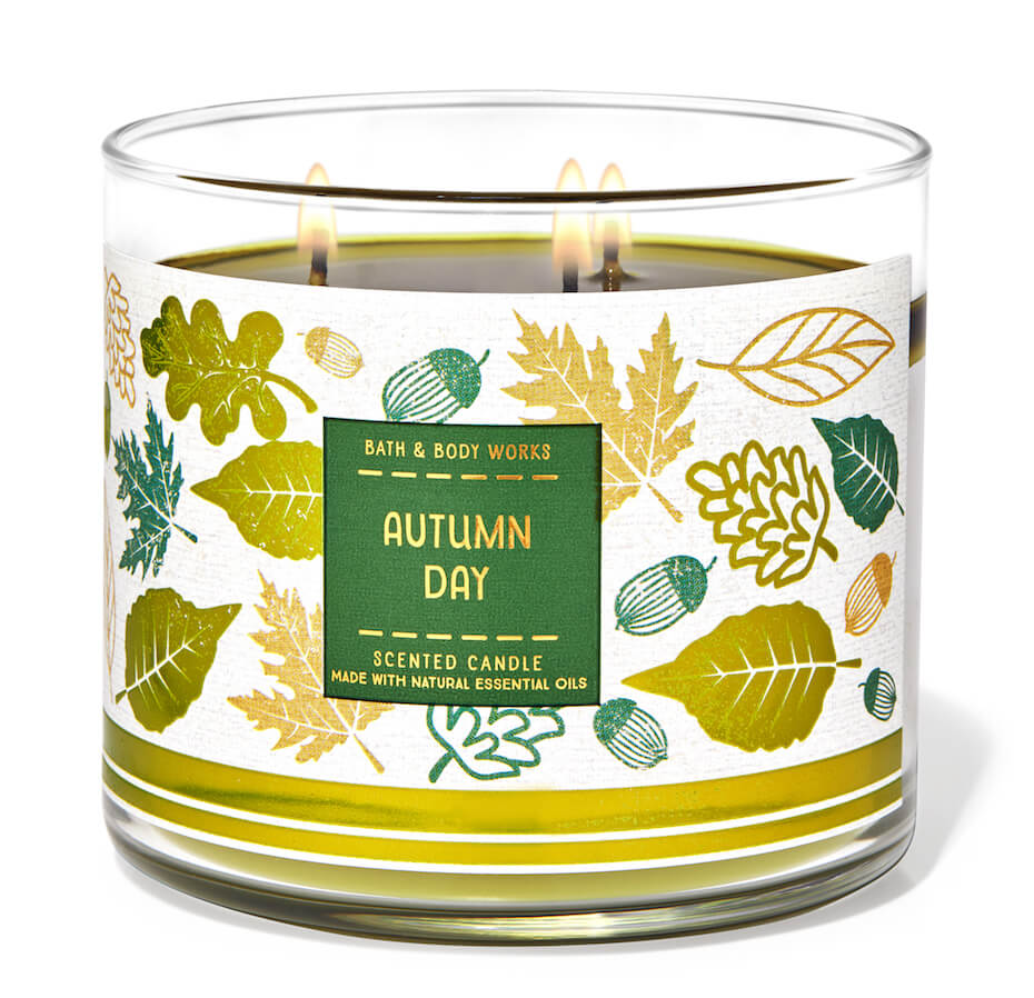 Bath and Body Works autumn day candle