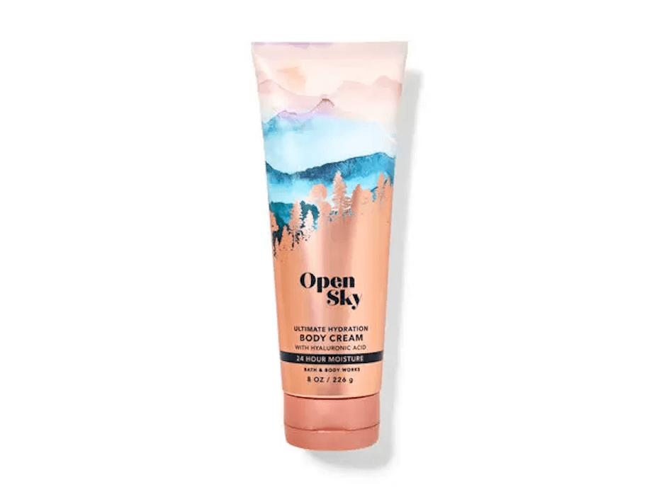Bath and Body works open sky body cream