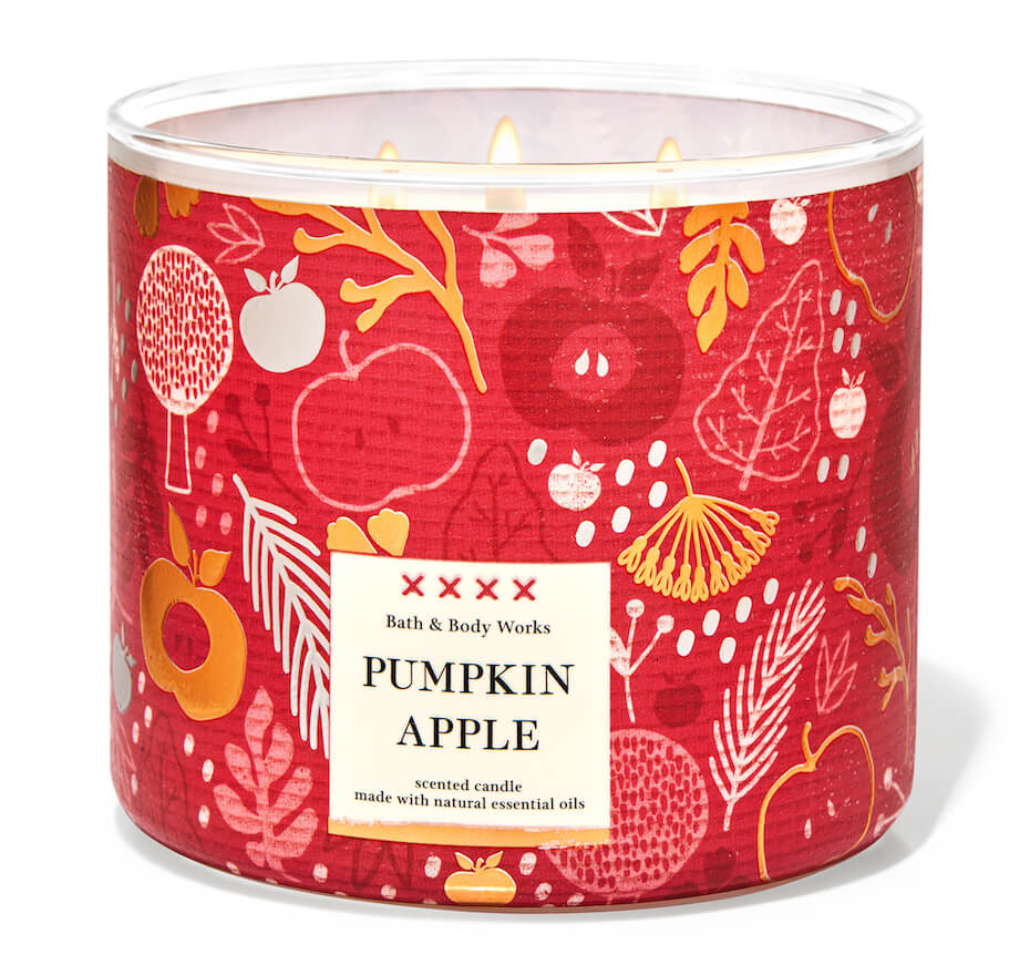 Bath and Body Works pumpkin apple candle