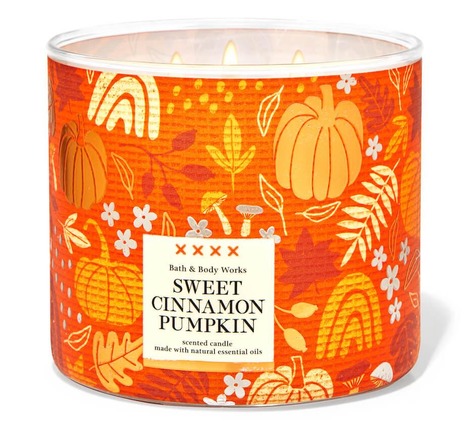 Bath and Body Works sweet cinnamon pumpkin candle