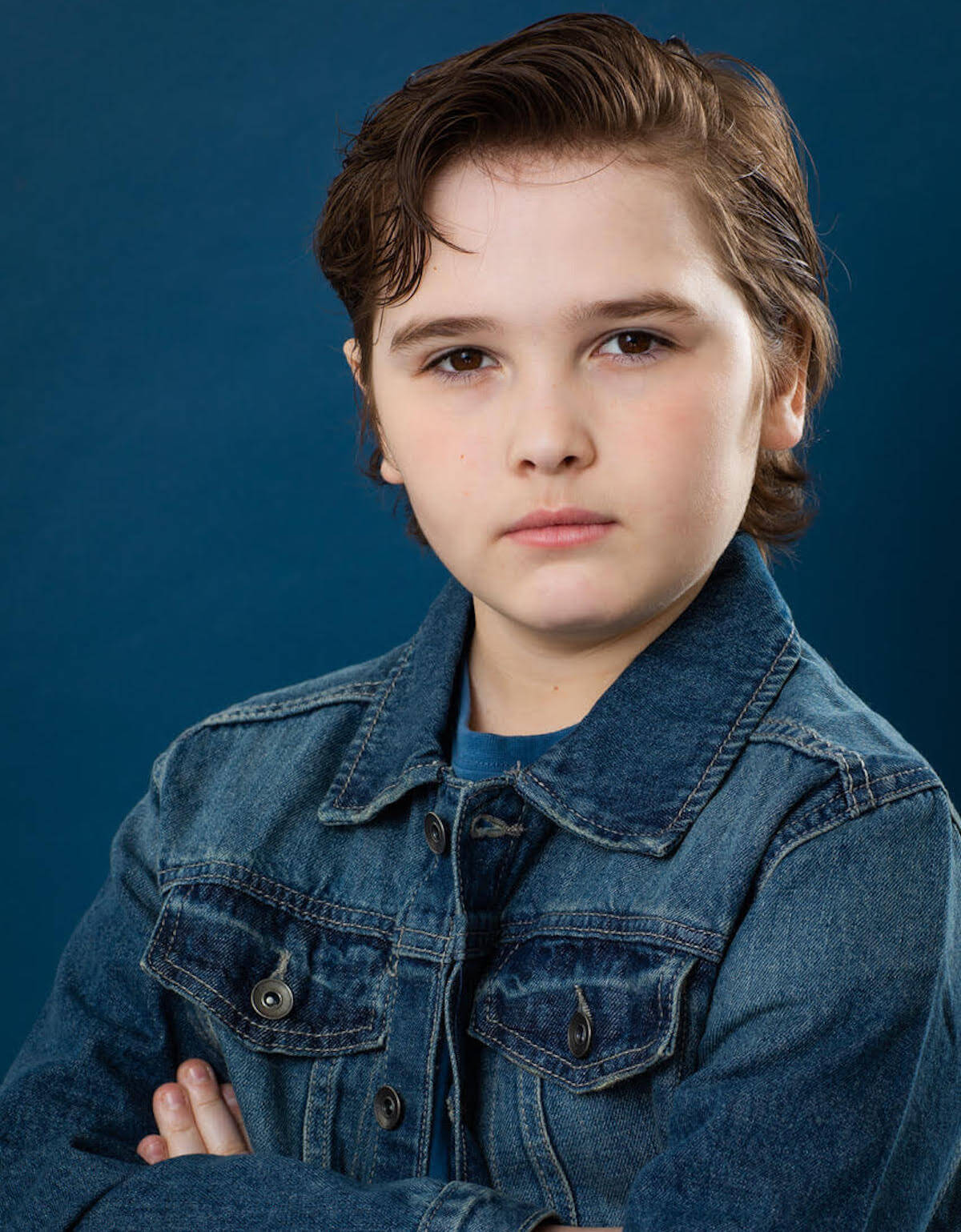 Cooper Friedman denim jacket headshot