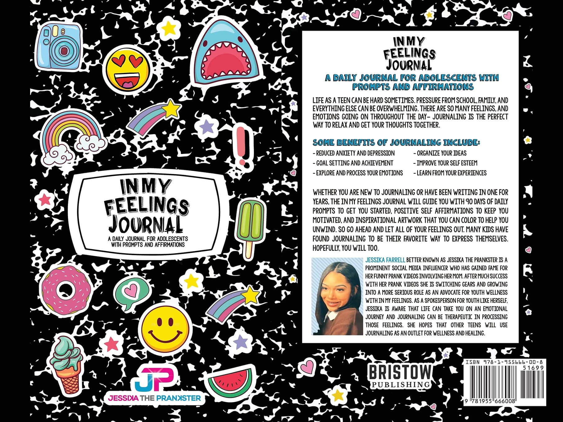 In My Feelings Journal front and back by Jessika the Prankster