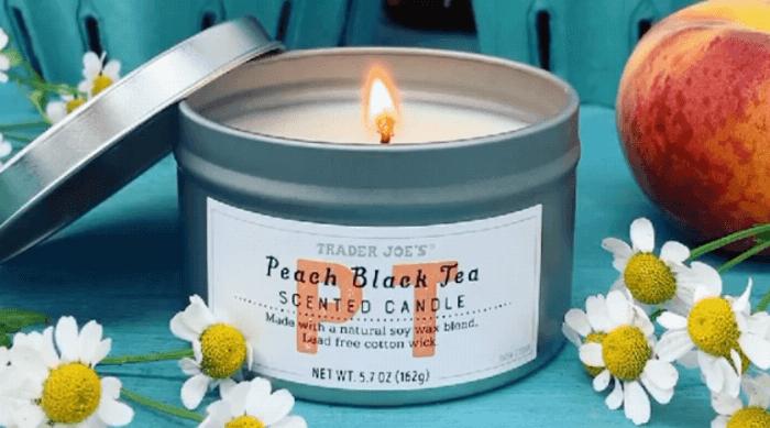 Instagram @traderjoes peack black tea candle featured
