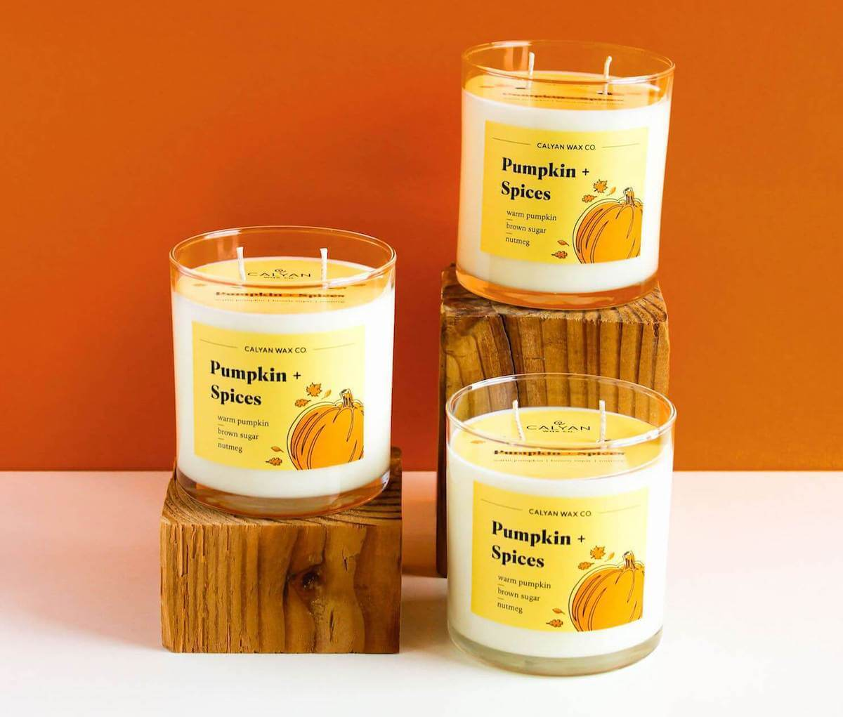 Calyan Wax. co pumpkin spices soy candle