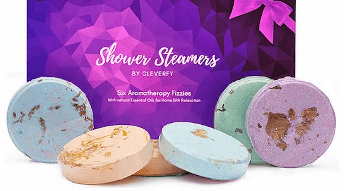Cleverfy shower steamer purple set
