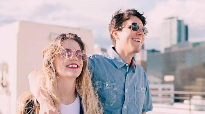 Instagram @lensabl sunglasses couple