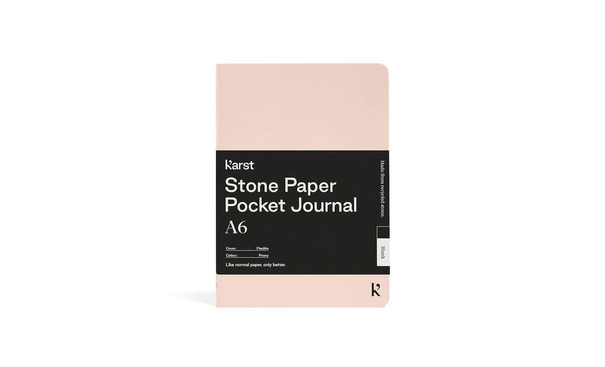 Karst stone paper pocket journal