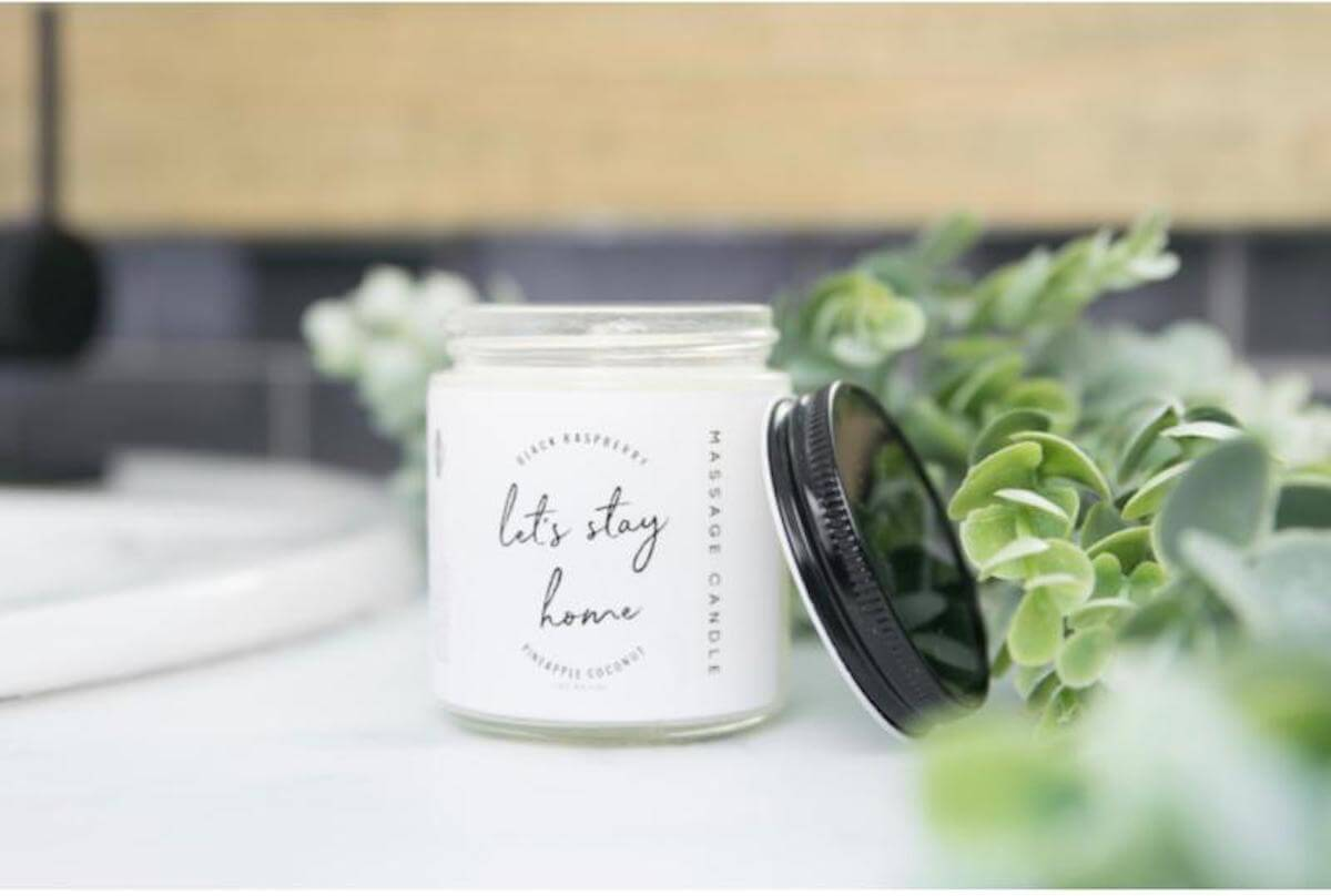 Let's Stay Home massage candle