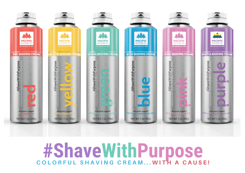 Pacific Shaving Co. shavewithpurpose cans