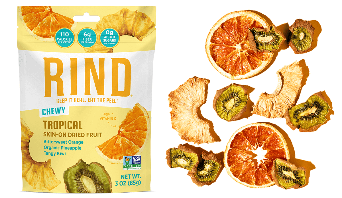 RIND tropical skin on dried fruit