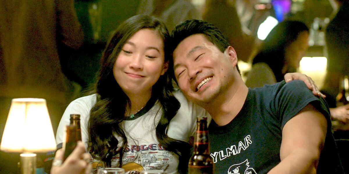 Shang Chi: Katy and Shang-Chi having fun