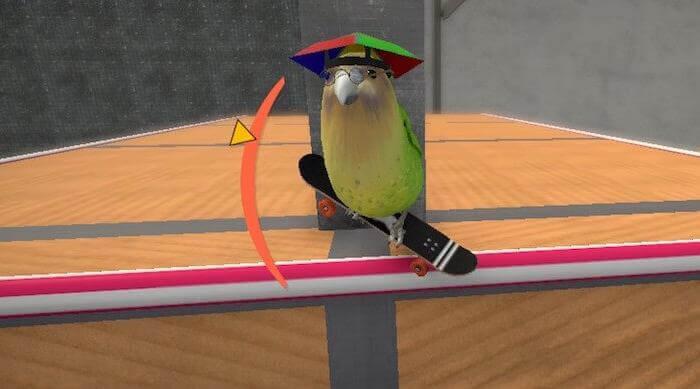 SkateBird: kakapo doing trick