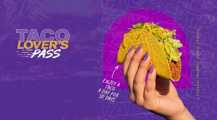 Taco Bell Taco Lover's Pass art