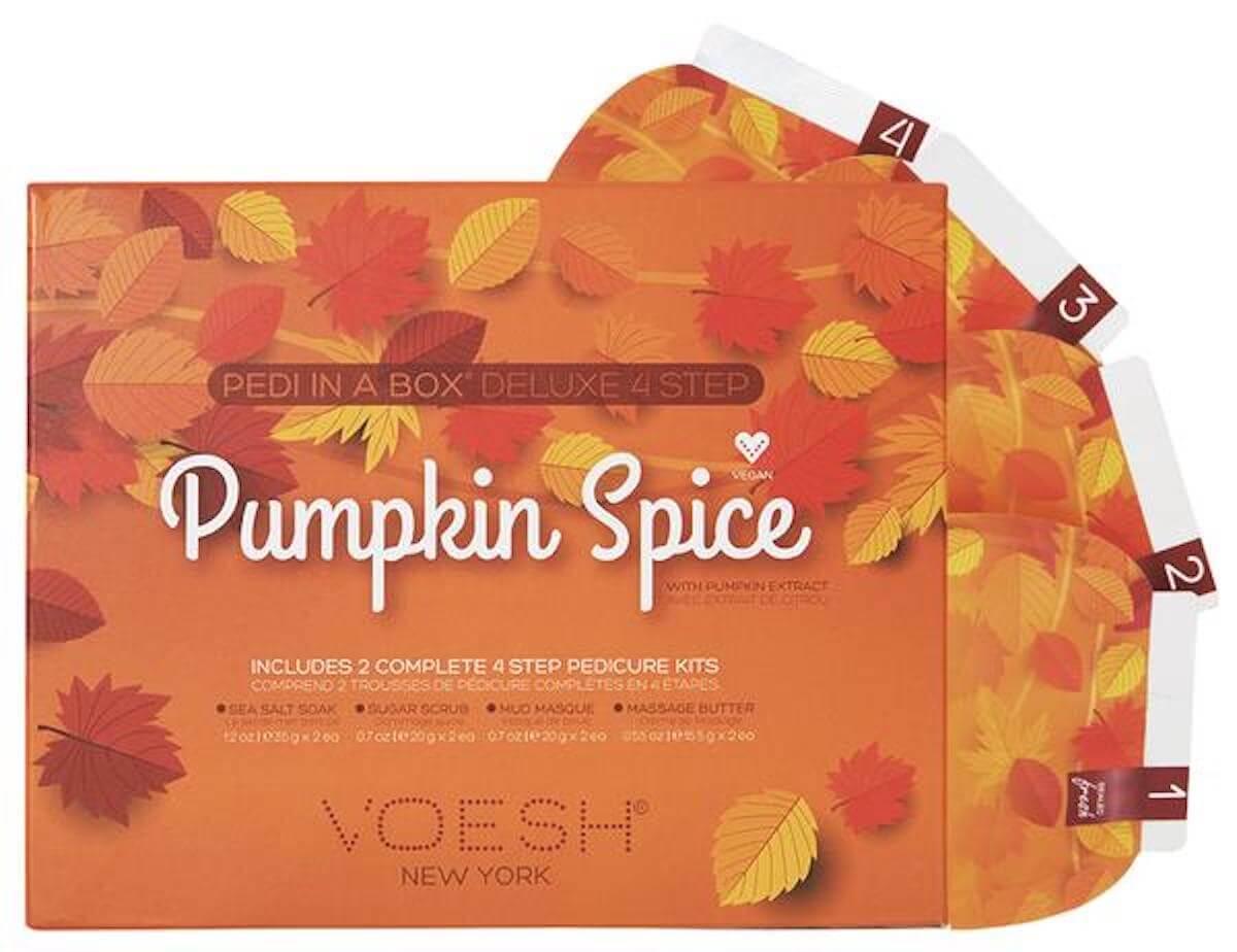 voesh pumpkin spice pedi duo