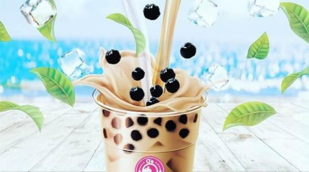 Instagram @ osbubbletea milk tea with boba