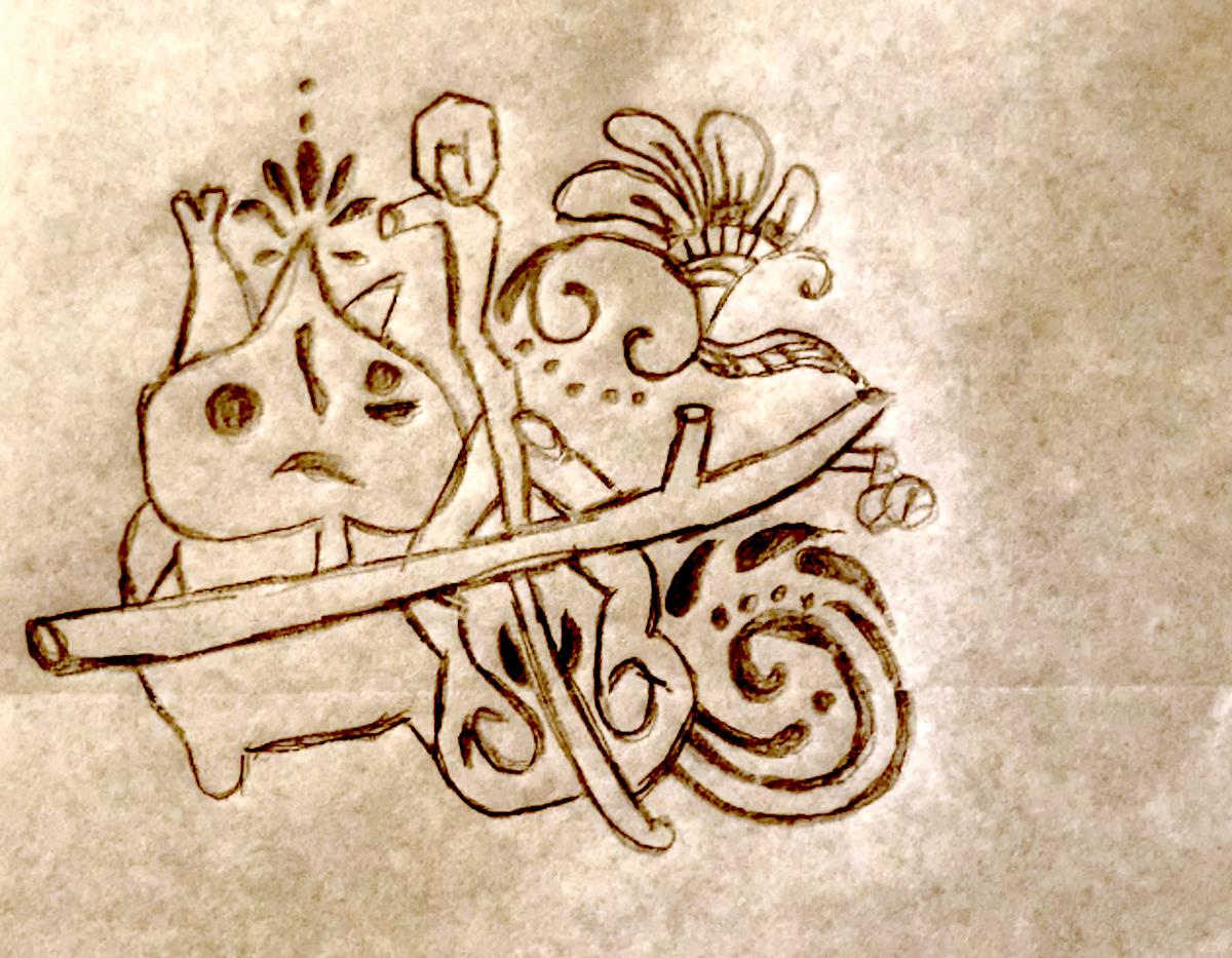 Earth henna makar drawing