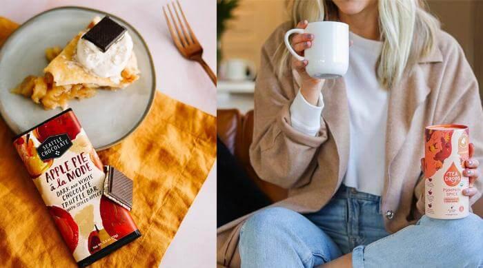 Fall flavored foods apple pie tea drops
