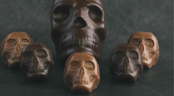 Instagram @johnkellychocolates chocolate skulls
