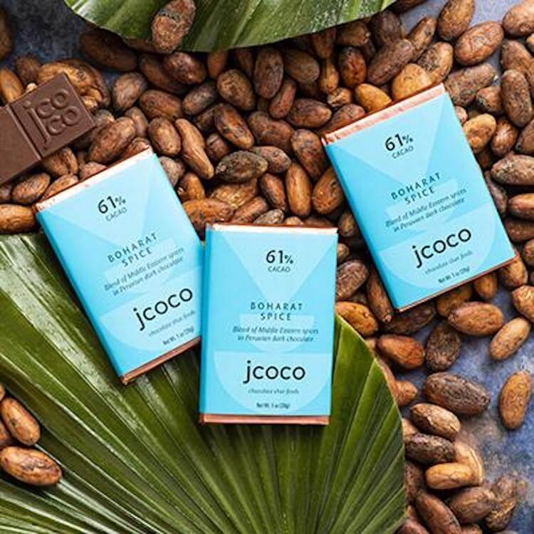 jcoco baharat spice chocolate bars