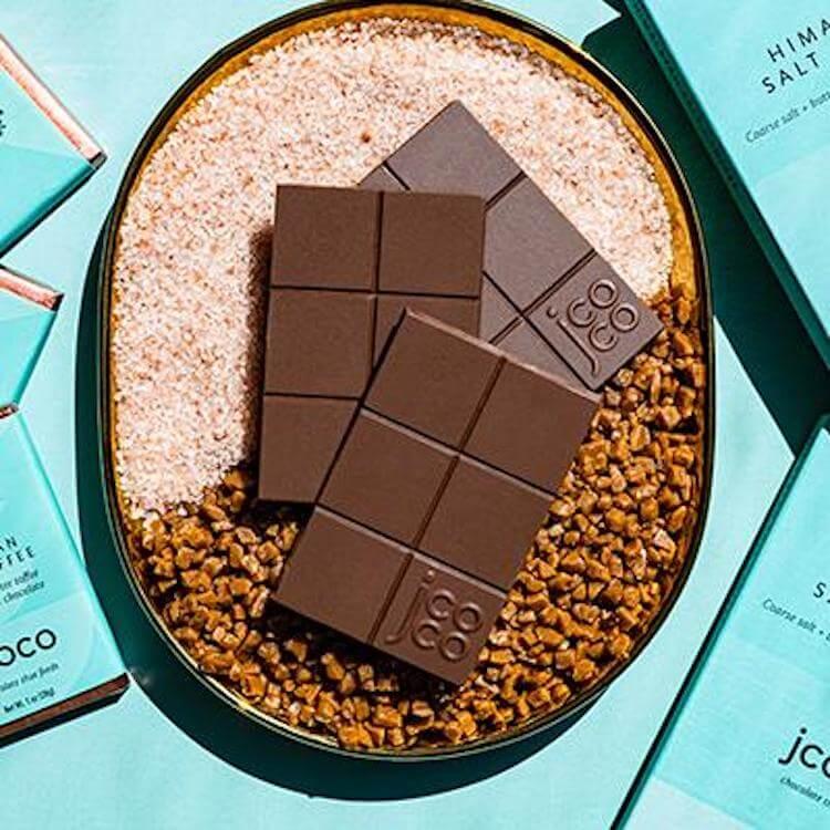 jcoco himalayan salt toffee chocolate bars