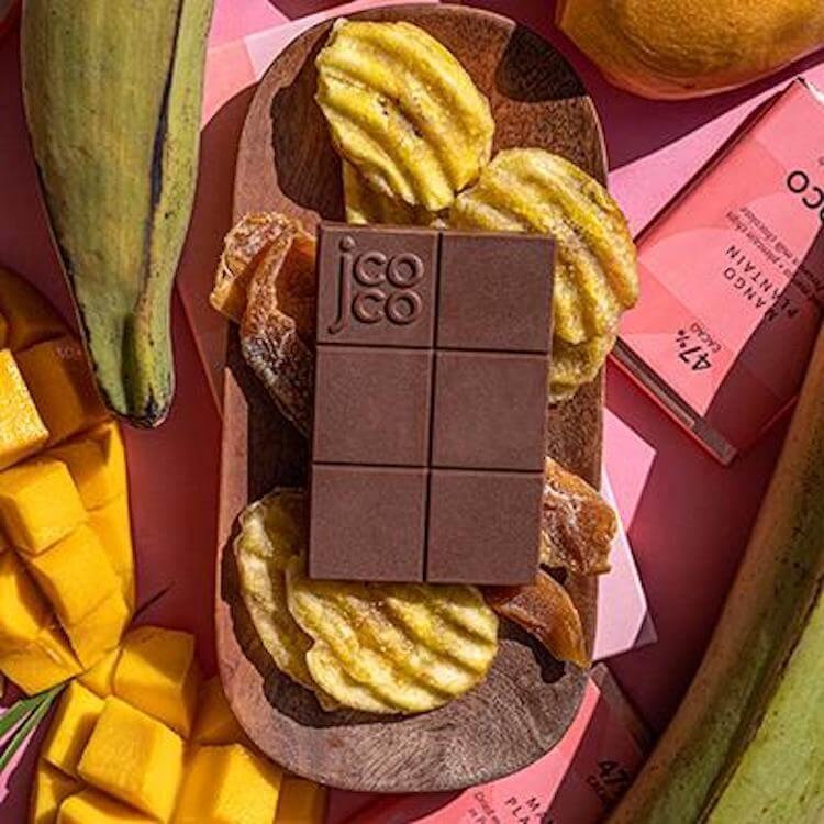 jcoco mango plantain chocolate bars