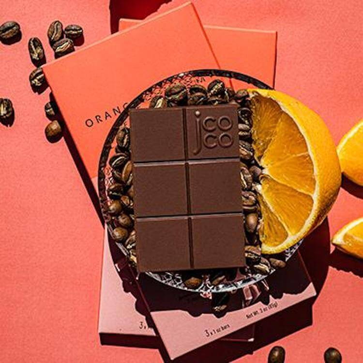 jcoco orange blossom espresso chocolate bars