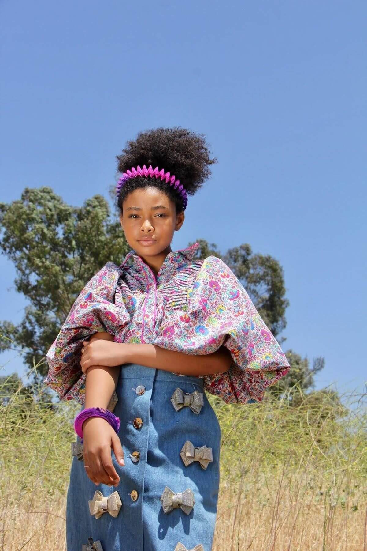 Mychal-Bella bowman bow skirt
