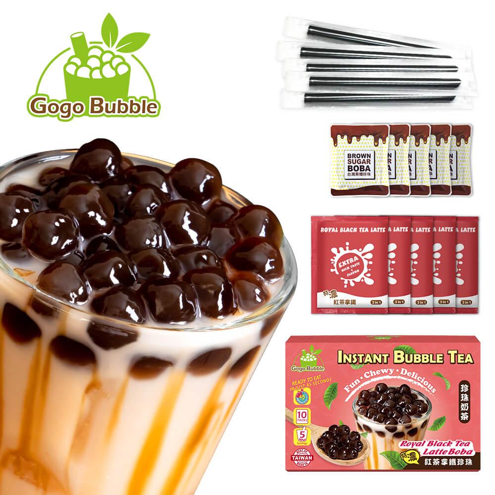 OS bubble royal black tea latte boba instant components