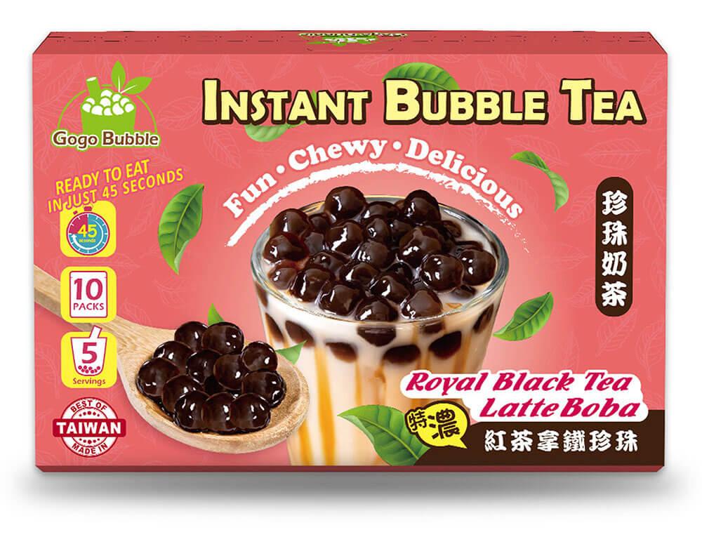 OS bubble royal black tea latte boba instant