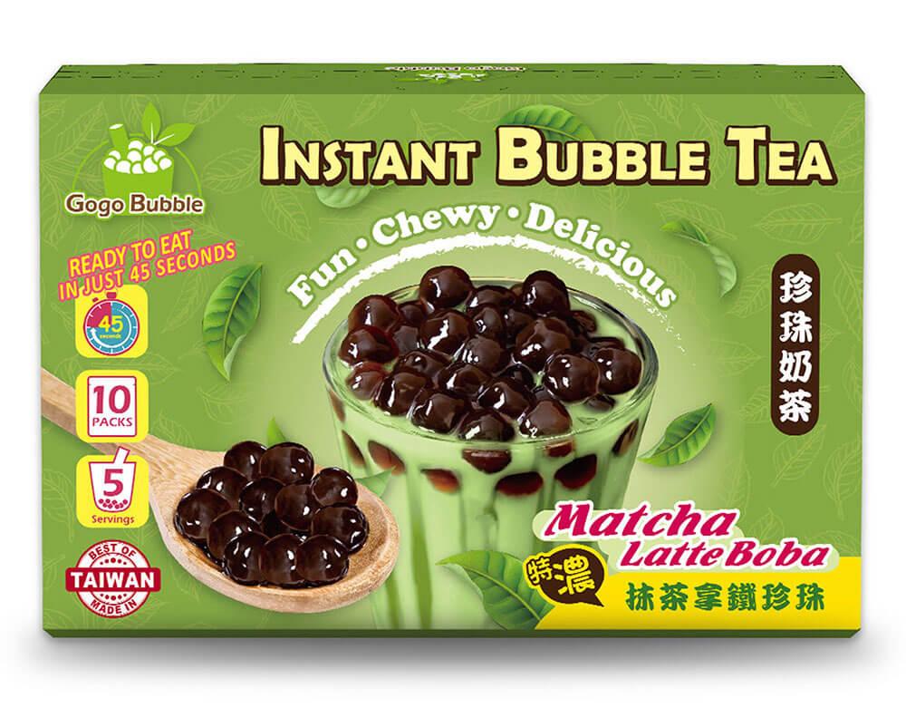 OS bubble matcha latte boba instant