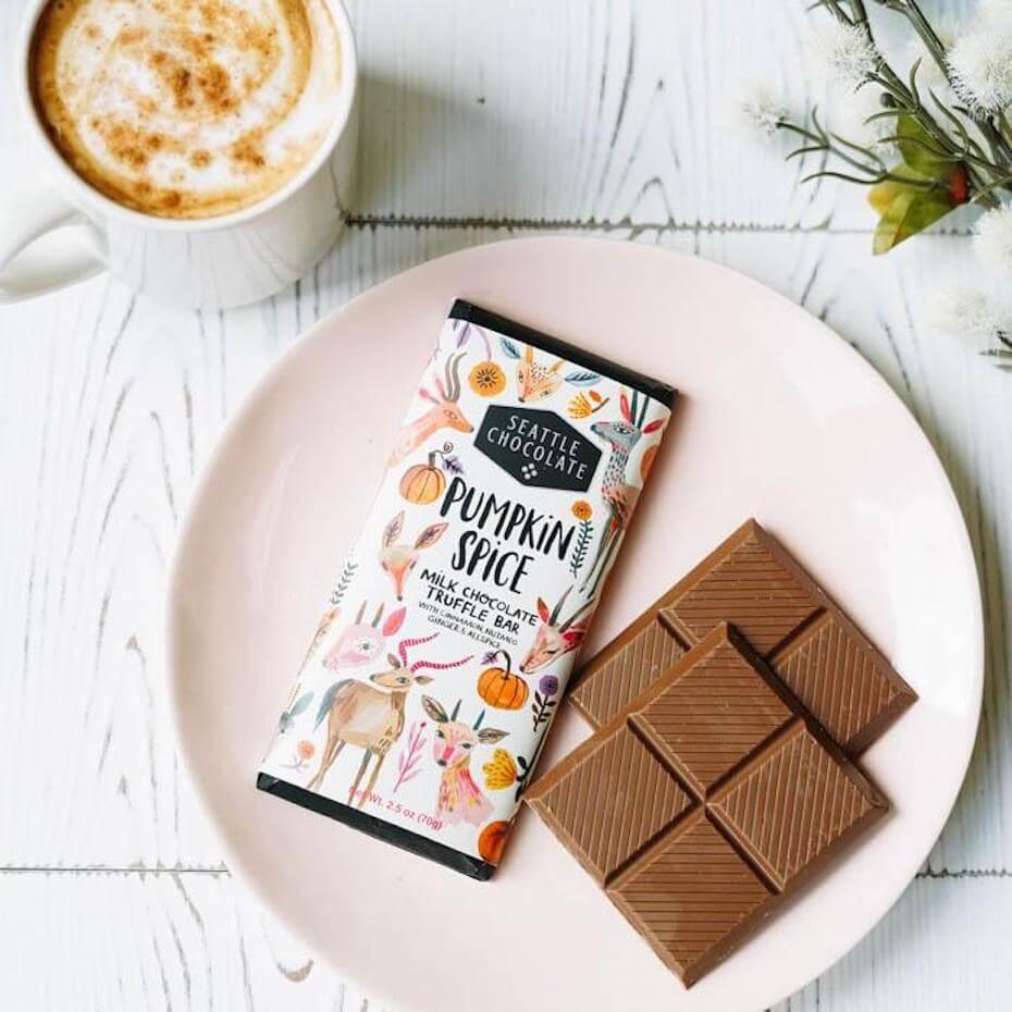 Seattle chocolate pumpkin spice chocolate