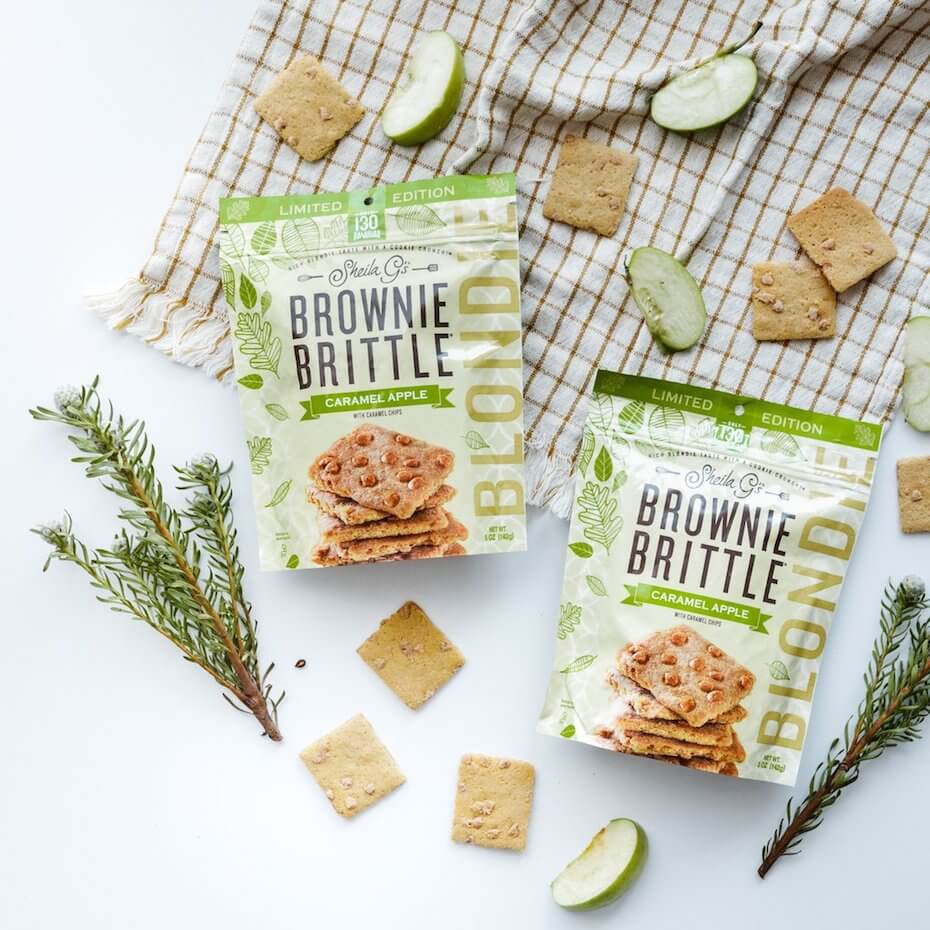 Sheila G's carmael apple brownie brittle